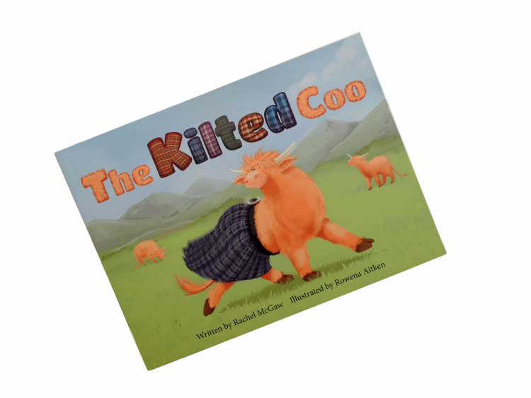 scottish book for children kilted highland cow