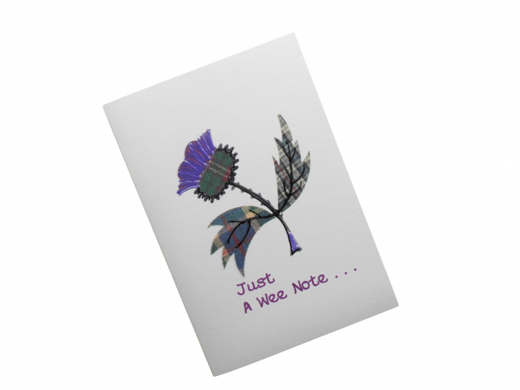 scottish card notecard tartan thistle