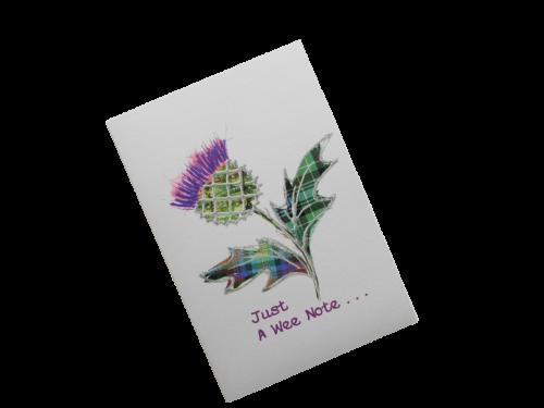 scottish card tartan thistle