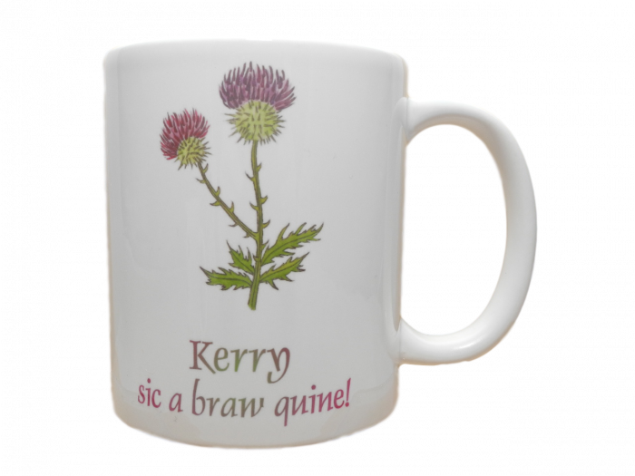 Scottish mug thistle scots language doric braw quine personalised