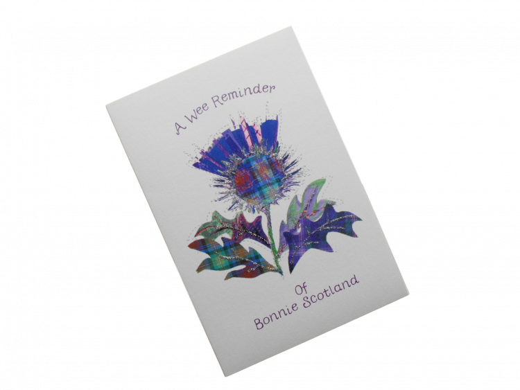 scottish card purple thistle