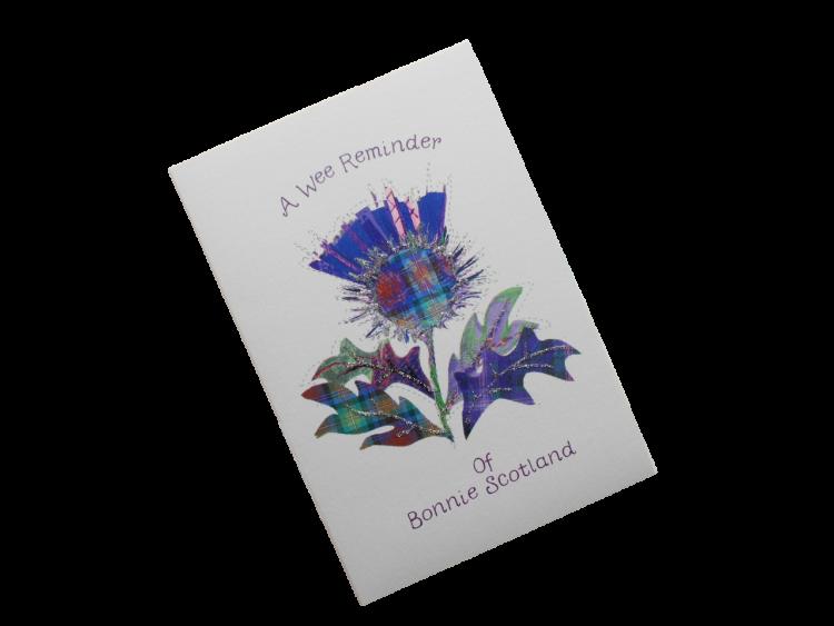 scottish card purple thistle