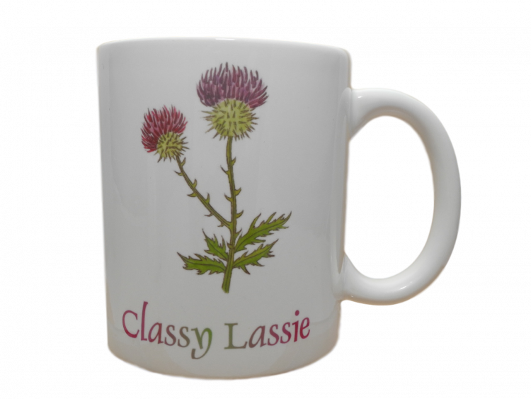 Scottish mug thistle scots language classy lassie