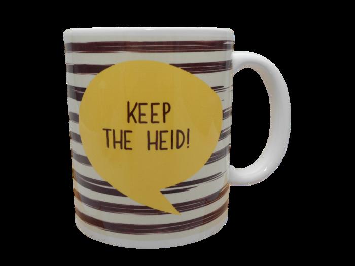 Scottish mug keep the heid scots language