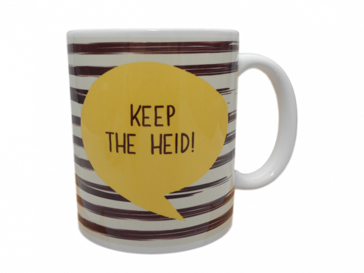 Scottish mug keep the heid scots language