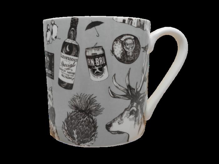 Scottish mug highland cow piper castle haggis thistle stag whisky
