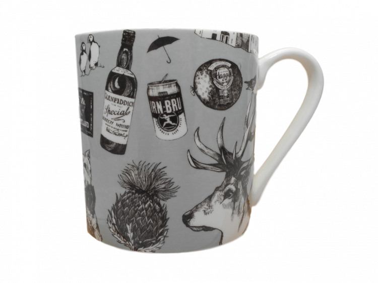Scottish mug highland cow piper castle haggis thistle stag whisky
