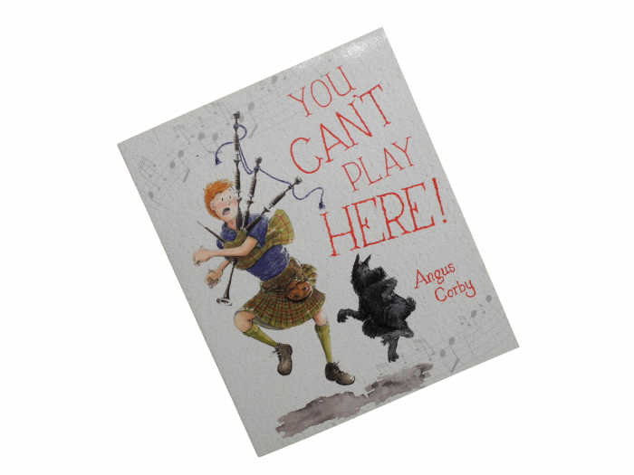 Scottish book for children boy bagpipes