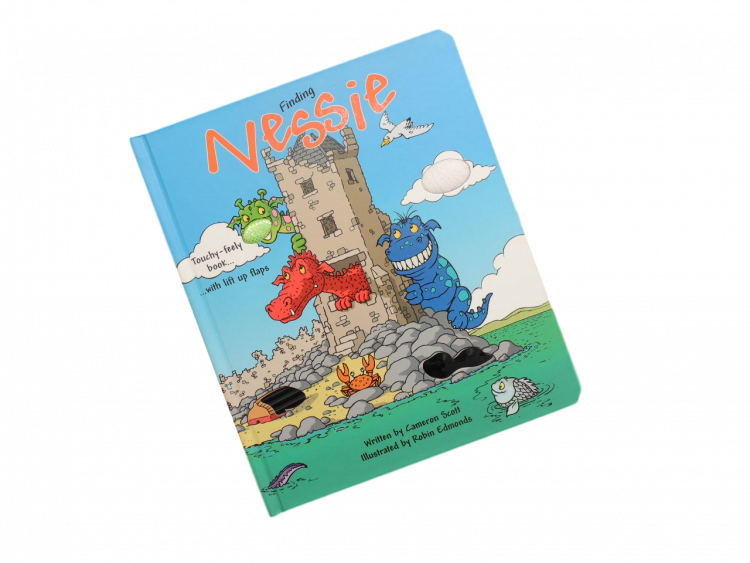 scottish lift flap book for children funny loch ness monster
