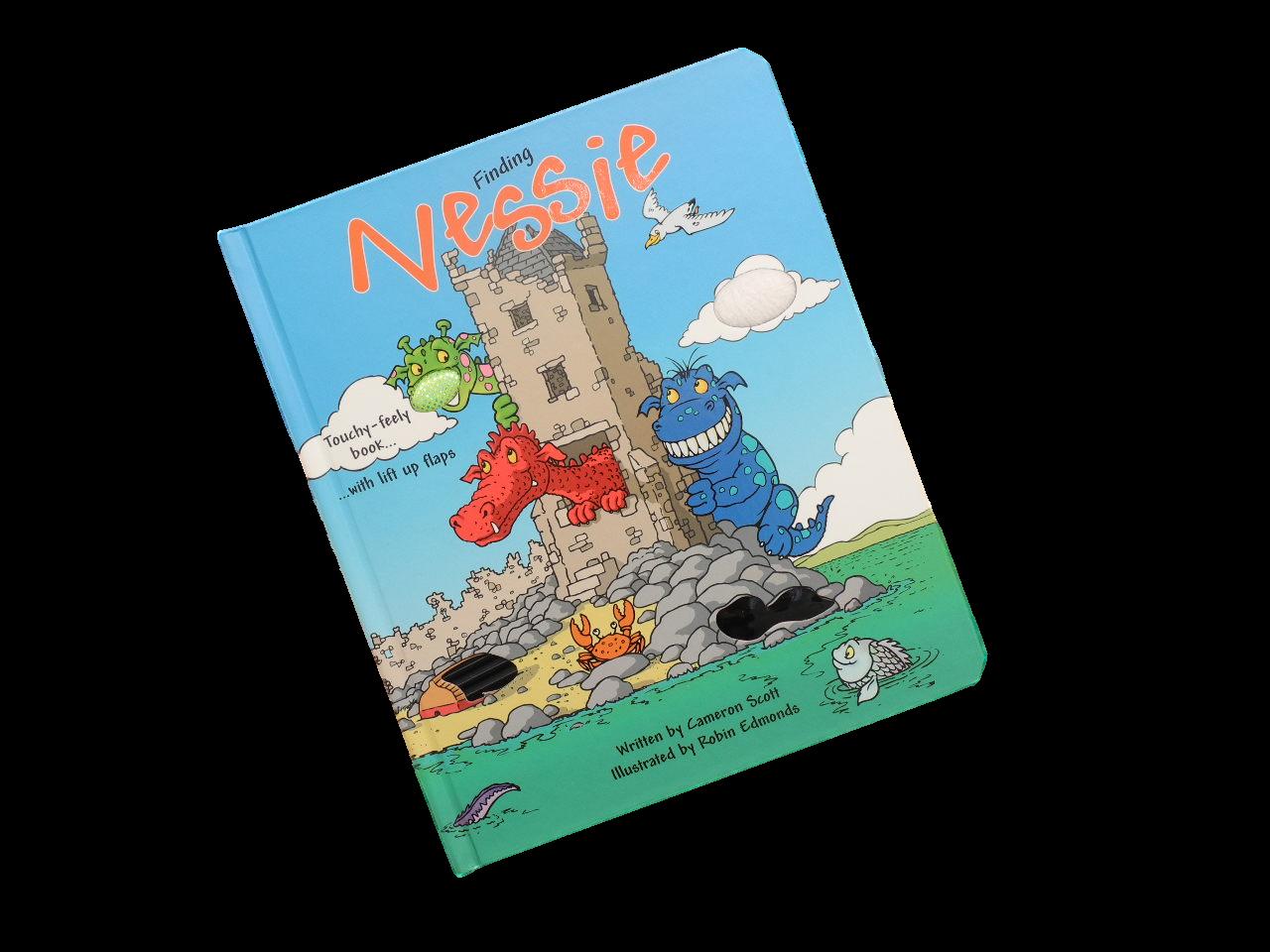 scottish lift flap book for children funny loch ness monster