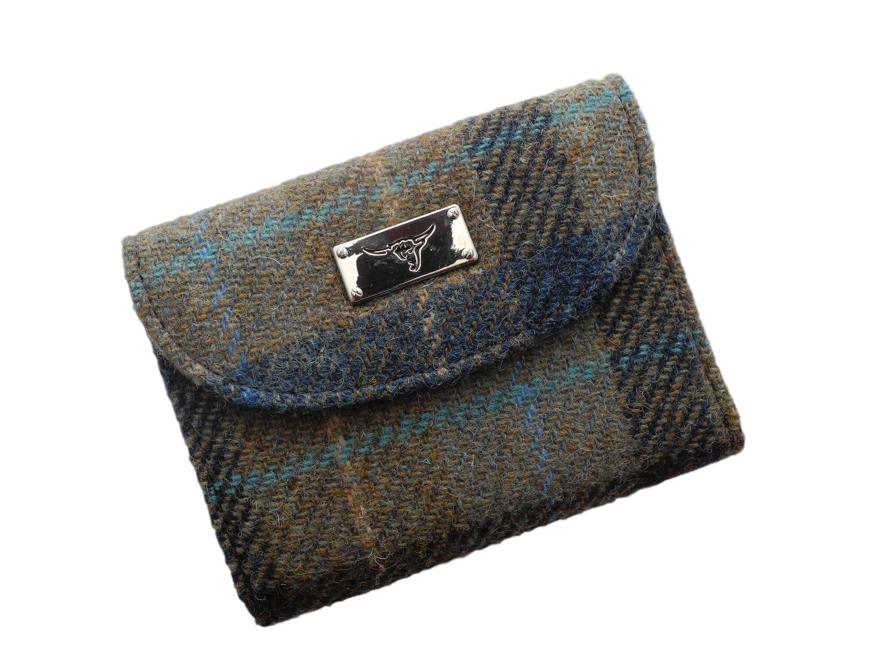scottish gift harris tweed purse green check