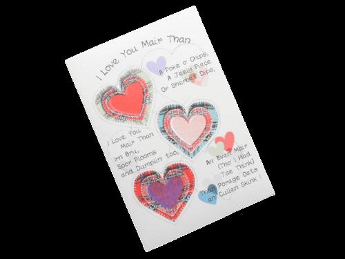 scottish card love someone special tartan hearts doric scots language