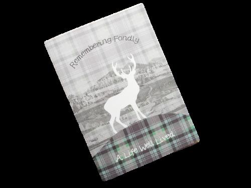 scottish sympathy card tartan stag
