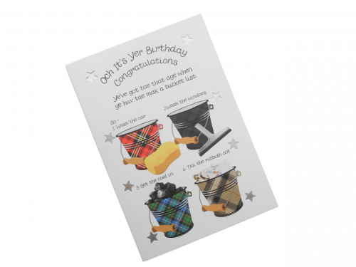 scottish birthday card tartan bucket list humorous doric scots language