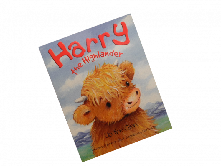 children's Scottish story book highland cow
