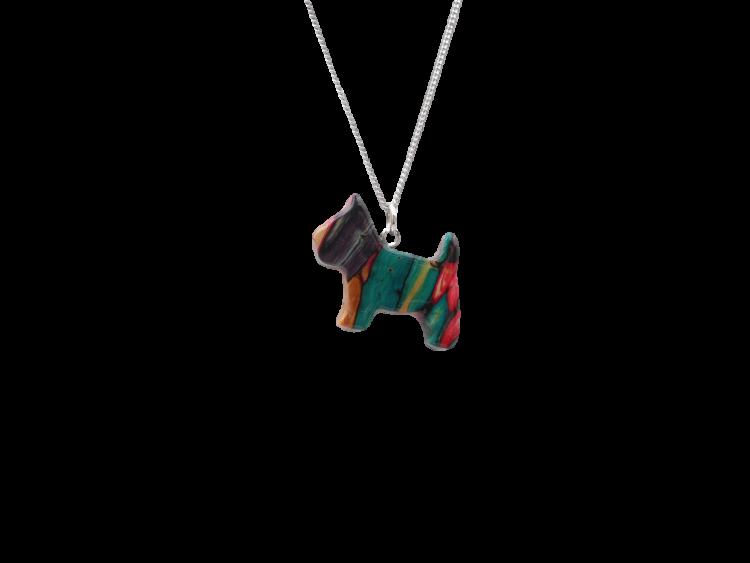 scottish gift pendant necklace heathergem scottie