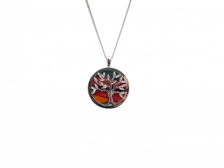 scottish pendant necklace heathergem tree of life