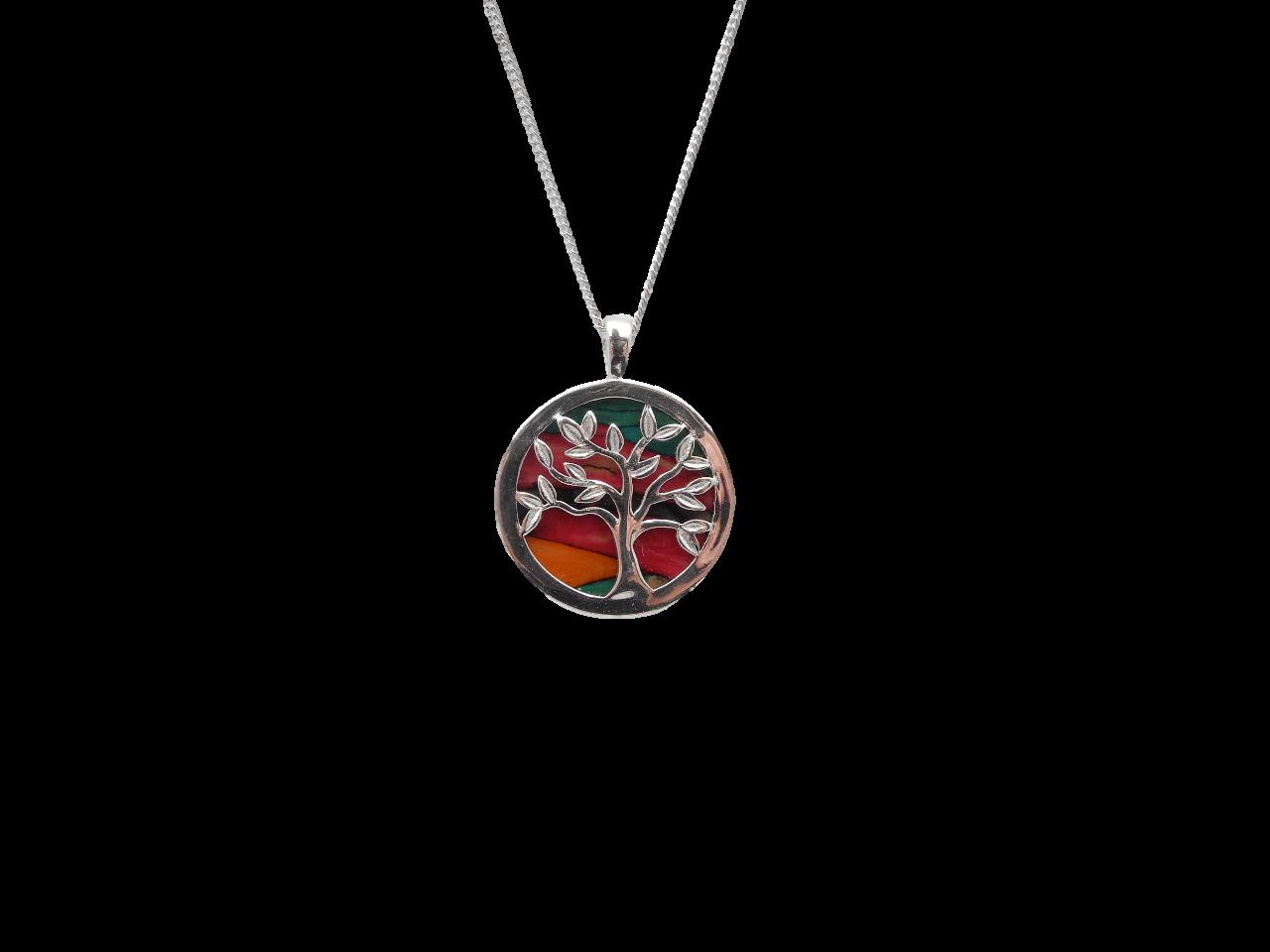 scottish pendant necklace heathergem tree of life