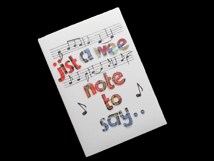 scottish open card tartan music scots language