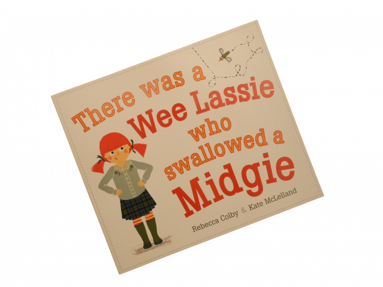 scottish scots language rhyming book for children there was a wee lassie who swallowed a midgie