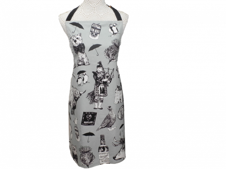 love scotland scottish icons apron
