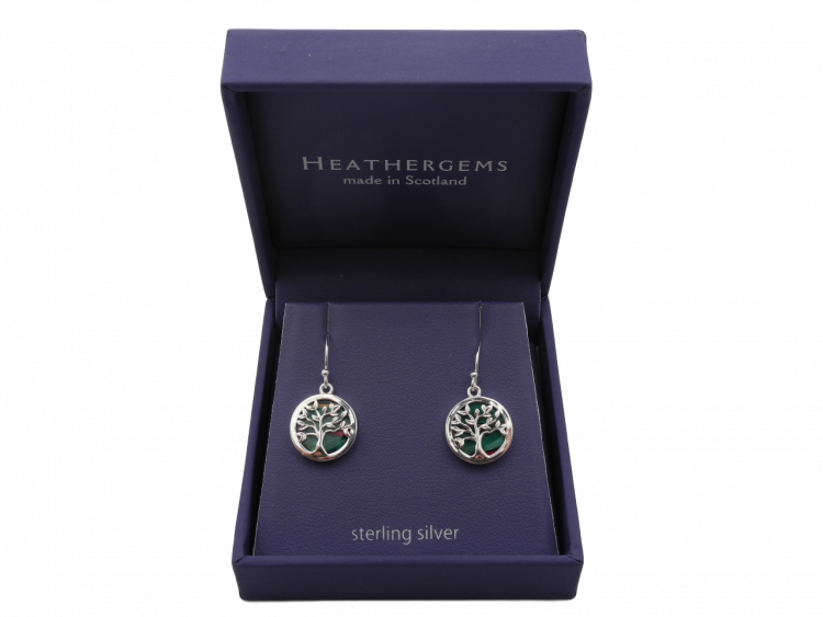 scottish ladies gift tree of life earrings heathergem