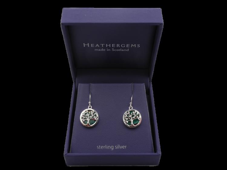 scottish ladies gift tree of life earrings heathergem
