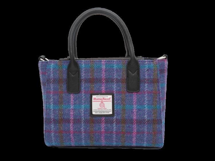 scottish ladies gift harris tweed handbag navy