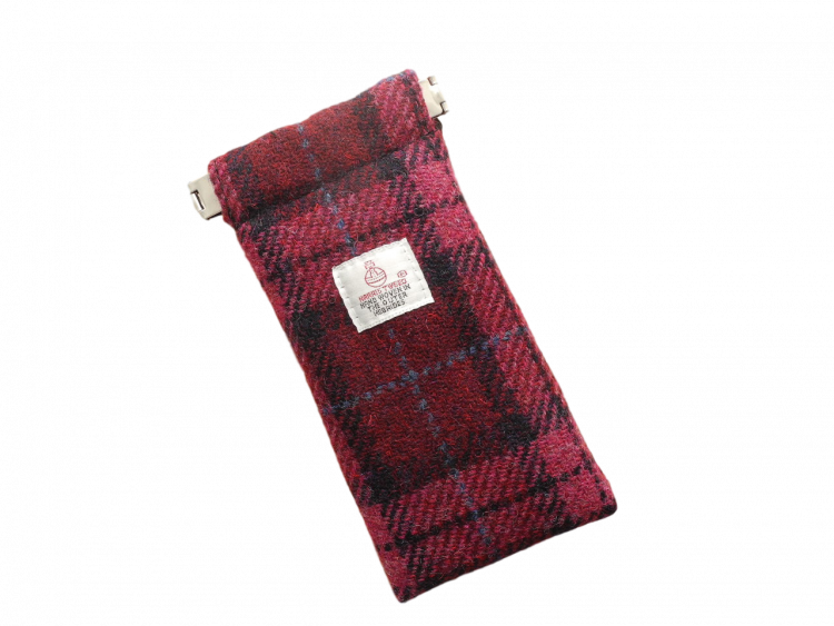 Scottish Harris Tweed specs case