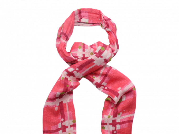 Scottish ladies gift tartan effect scarf stole pink