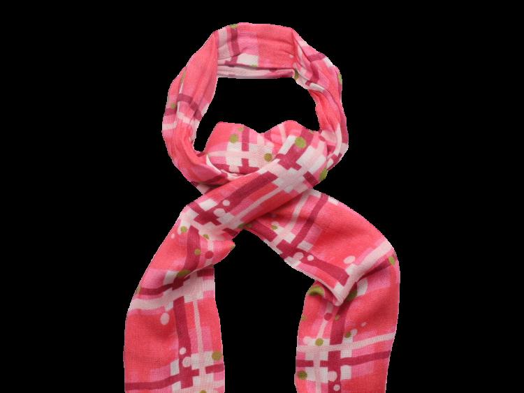 Scottish ladies gift tartan effect scarf stole pink