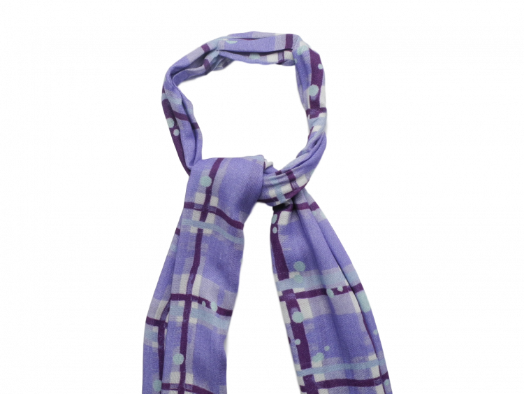 Scottish ladies gift tartan effect scarf stole lilac