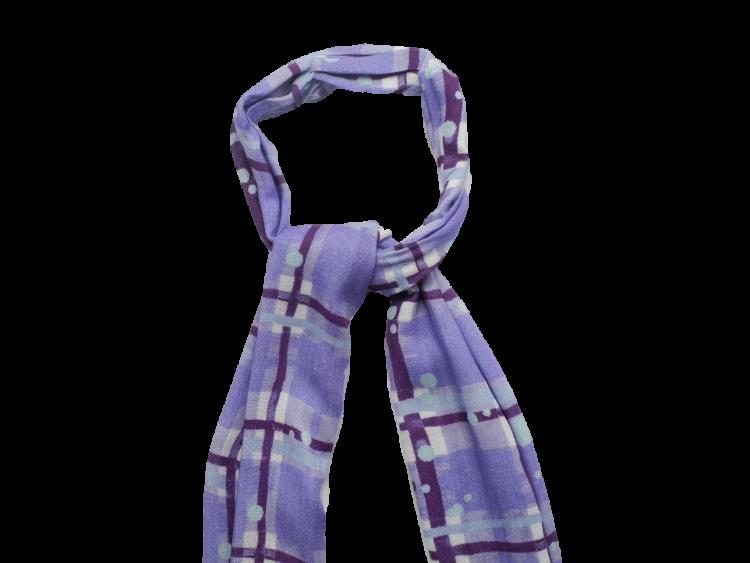 Scottish ladies gift tartan effect scarf stole lilac