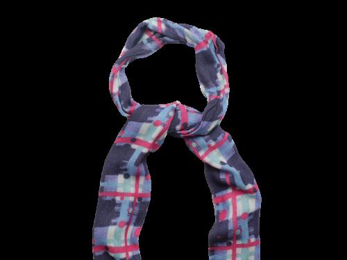 Scottish ladies gift tartan effect scarf stole navy
