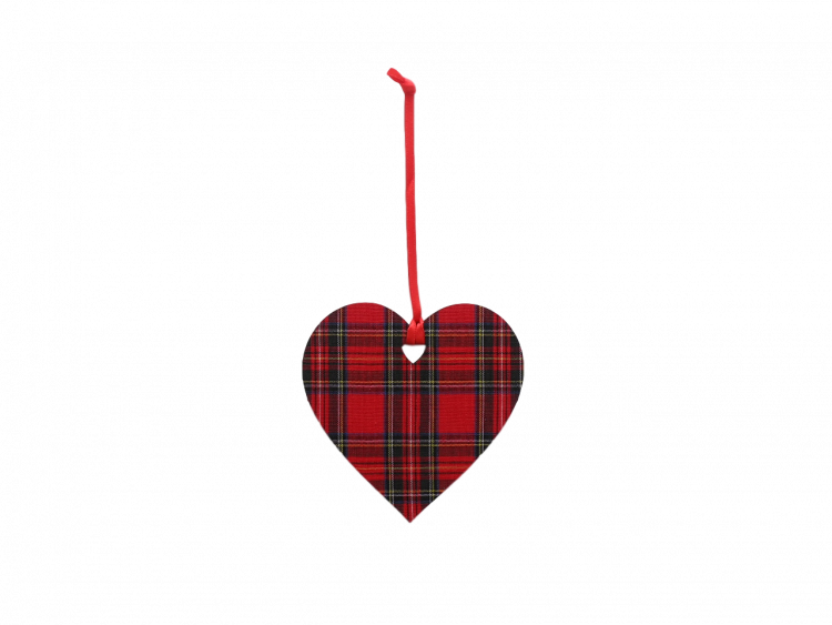 Scottish house new home gift hanging Christmas decoration tartan heart
