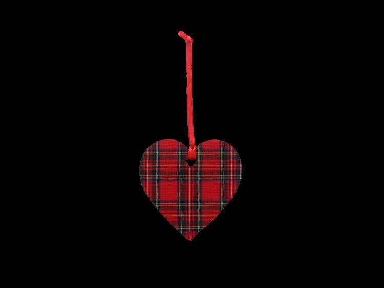 Scottish house new home gift hanging Christmas decoration tartan heart