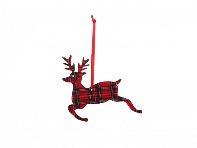 Scottish house new home gift hanging Christmas decoration tartan stag