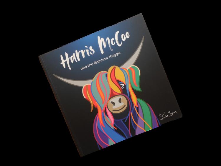 children's Scottish story book highland cow