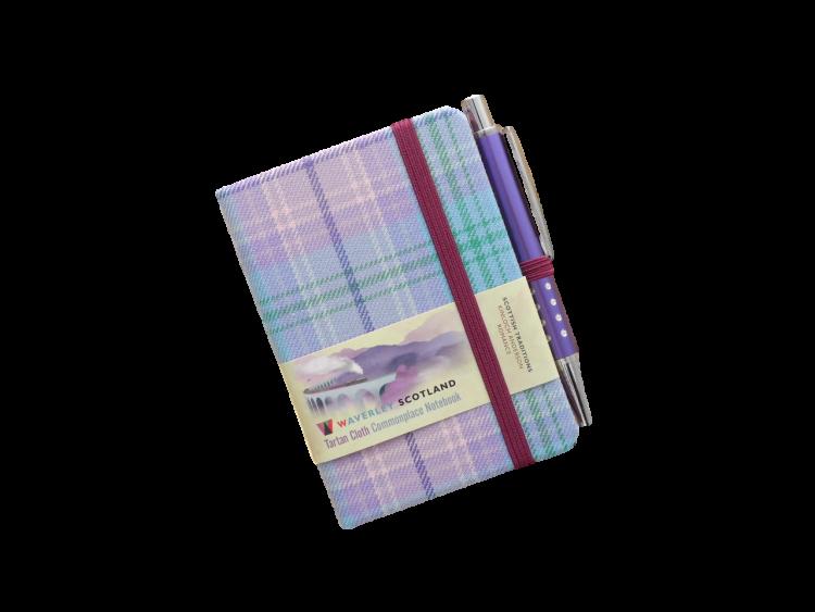 Scottish gift Kinloch Anderson tartan notebook pen