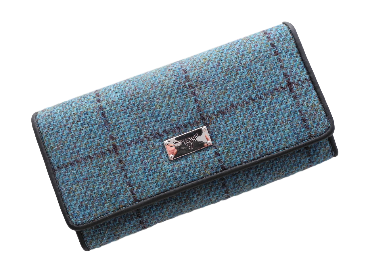 scottish ladies gift harris tweed purse green check