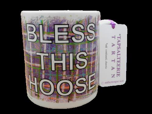 Scottish Scots Doric language tartan ceramic mug bless this hoose