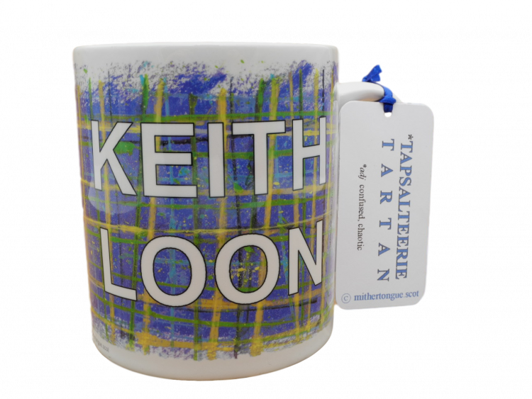 Scottish Scots Doric language tartan ceramic mug keith loon