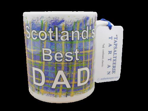 Scottish Scots Doric language tartan ceramic mug scotland's best dad