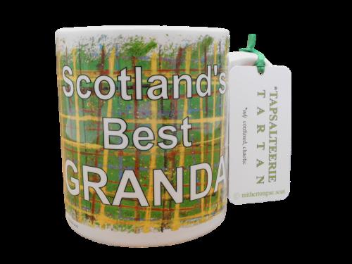 Scottish Scots Doric language tartan ceramic mug sotland's best dad