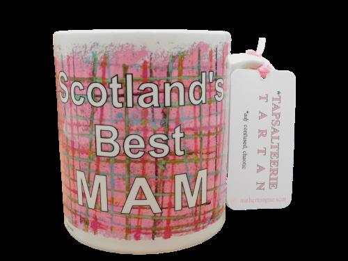 Scottish Scots Doric language tartan ceramic mug scotland's best mam