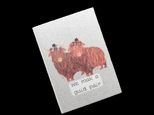 scottish card tartan highland cows doric scots language