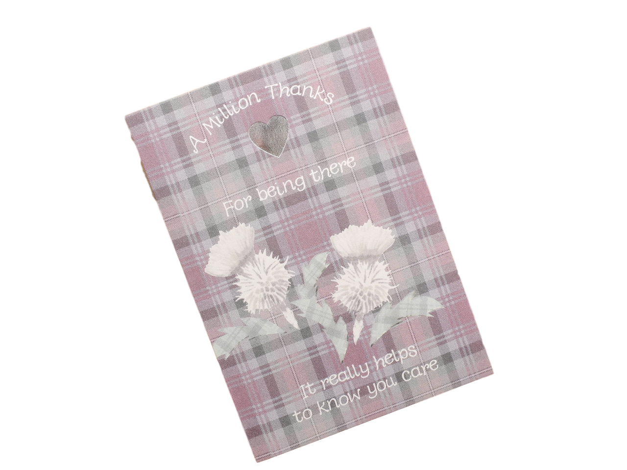 scottish thank you card tartan thistles