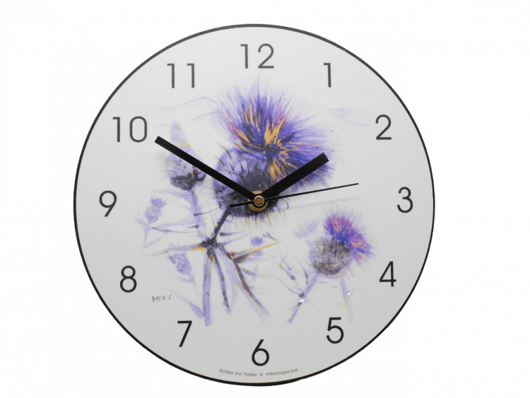 scottish gift clock thistle