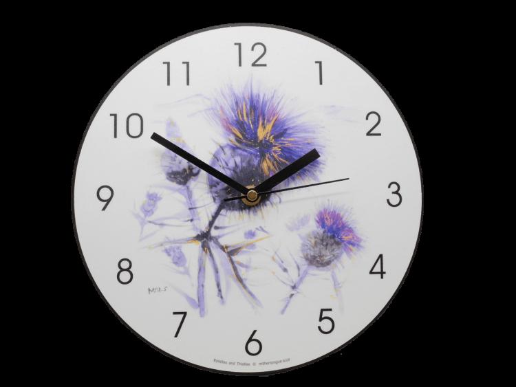 scottish gift clock thistle
