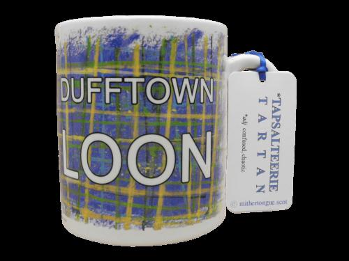 Scottish Scots Doric gift language tartan ceramic mug dufftown loon